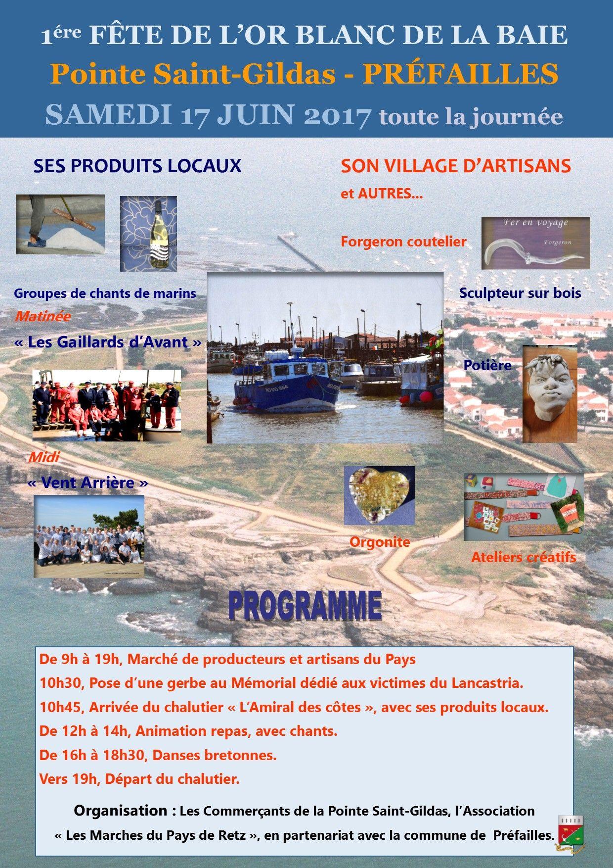 Affiche officielle 1ère Fête de l'Or blanc de la baie
