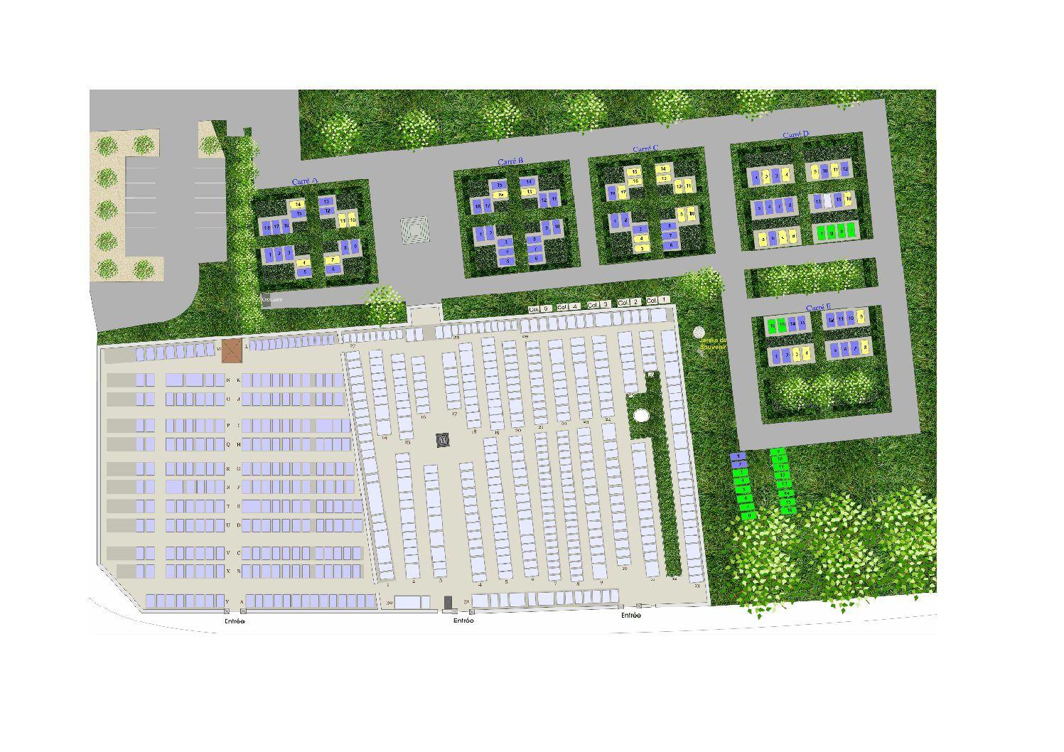 plan global du cimetière