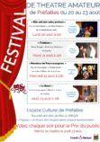 Affiche Festival de théâtre amateur 2018